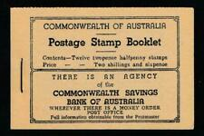 AUSTRALIA S.G.#SB28 2 1/2p SCARLET KGVI Vt FORMAT 1942 BOOKLET