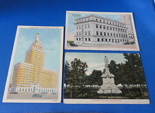 (3) Antique Post Card(s) - Ok - National Bank of Tulsa, City Hall, Roy Cashion's