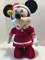 "Disney Animated/ Musical/ Dancing 13"" Minnie Mouse Christmas Figure/ Plush"