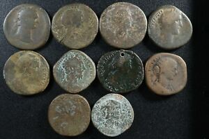 Lot of 10 Sestertii All different rulers see description Sestertius Sesterce