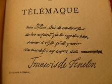 LES AVENTURES DE TELEMAQUE Fénelon