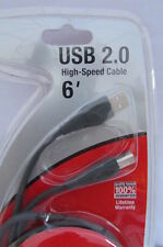 B. New Staples USB 2.0 High Speed Cable 6' Up To 480 Mbps Windows And Macintosh