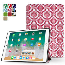 iPad Pro 9.7 Case Smart Cover Stand Hard Back Auto Sleep Wake 2016 Damask Pink