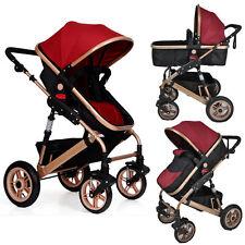 3in1-Combi-Stroller Travel System Baby Pram Pushchair & Cover Aluminium 3 Colors