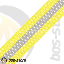 Feuerwehr Reflexstreifen HuPF, 50mm, Reflex gelb/silber/gelb, perforiert, neu