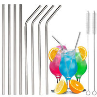 Reusable Drinking Straw Stainless Steel Metal Straws Wide Straw for Smoothies