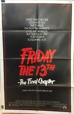 FRIDAY THE 13TH: THE FINAL CHAPTER, Original 1984 Horror Movie Poster, One Sheet
