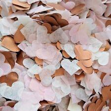 3500 Wedding Confetti Biodegradable ROSE GOLD/COPPER PINK Tissue Paper Hearts