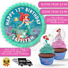PRINCESS ARIEL PERSONALISED BIRTHDAY CAKE TOPPER WAFER PAPER NAME AND NUMBER