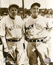 NEW YORK YANKEES 8x10 Vintage b/w Photo BABE RUTH & LOU GEHRIG Photofile Picture