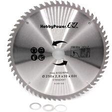 Sägeblatt 60 Zähne 250mm für EINHELL Tischkreissäge TC-TS 2025 U / TKS 1500 ECO