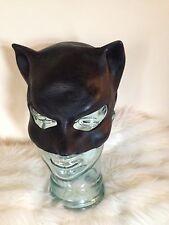 ADULT CAT WOMAN SUPERHERO LATEX RUBBER MASK HALLOWEEN FANCY DRESS ACCESSORY