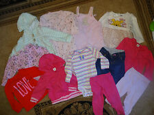 12 Baby Girl Clothes Size 9 Months Mix Outfits One pieces Hoodies Pants_Z29_B16