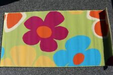 Rug Runner Kid's Room Living Room Hallway Flowers Flower Power Unused NOS