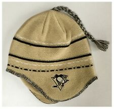 Pittsburgh Penguins NHL Ice Hockey Reebok Ear Flap Tassel Knit Beanie Hat