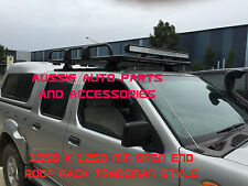 Steel Open Ended Tradesman Roof Rack 1350x1250mm for Nissan Navara D22  Dual Cab