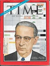 Time Magazine May 30, 1966. General Motors President  Roche. Red China. Economy.