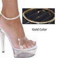 Women's Gold Rhinestone Anklet Foot Chain Ankle Bracelet Wedding Jewelry A53
