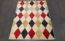 CHINESE,MODERN,GEOMETRIC, RUG,224x160CM,MULTI, RED,IVORY,GREEN,BLUE,PINK