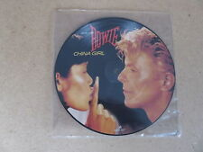 "DAVID BOWIE China Girl / Shake It 7"" RARE UK ORIGINAL PICTURE DISC IGGY POP"