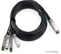 Dell K9HPR 1 Meter QSFP Plus to 4 x 10GbE SFP Plus Breakout Cable - Black