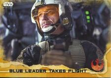 Star Wars Rogue One Gold Parallel Base Card #49 Blue Leader Takes Flight