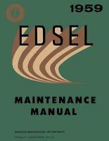Bishko OEM Repair Maintenance Shop Manual Bound for Edsel All Models 1959