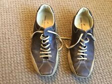 DANIEL HECHTER  OF PARIS MENS BROWN LEATHER TRAINERS SIZE 7.5