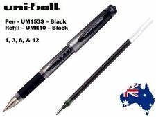uni-ball (UM153S) Gel Impact Pen, Box of 12 - Black