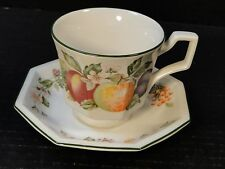 Johnson Brothers Fresh Fruit Cup Saucer Set Strawberry Floral Excellent