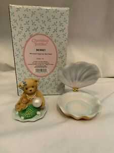 Cherished Teddies Mermaid Figurine And Shell 865087 - 2001