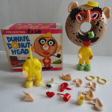 RARE Dunkie Donut Head w/ Box Many Parts Mr. Potato Head Family Dunkin Donuts