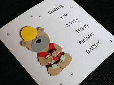 Personalizzato FATTO A MANO Builder Compleanno Carta-il papà, fratello, amico, figlio, lo zio