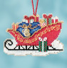Mill Hill SLEIGH RIDE or NUTCRACKER BALLET Charmed Ornaments Cross Stitch Kits