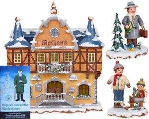 Hubrig Neuheit 2020 Rathaus + Bürgermeister + beste Freunde Winterkinder +Gratis