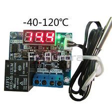 DC12V Intelligent Digital Led Thermostat Temperature Controller Sensor -40-120°C