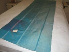Vintage Blue with Purple Pattern Rayon Fabric 86x31