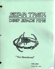 Star Trek Script - Deep Space Nine - The Abandoned- 1994