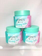 (3) Ponds Cold Cream Cleansing Balm Melt Makeup Face Wash Moisturize Skin 3.38o