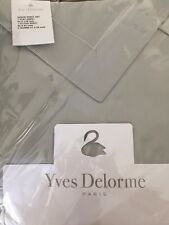 YVES DELORME PARIS Gray Parure QUEEN SHEET SET- 4PC Brand New- Brand New