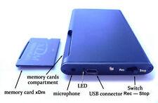 Slim Digital Voice Recorder Edic-mini Tiny A69 300Hr 2GB Removable Memory xD DVR
