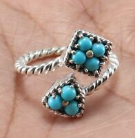 sleeping beauty turquoise 925 sterling silver gemstone ring size 7 women jewelry