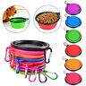 Portable Collapsible Pet Dog Silicone Travel Outdoor Feeder Bowl Food Water Dish