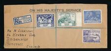 FALKLAND ISLANDS 1949 UPU SET on OFFICIAL ENVELOPE REGISTERED