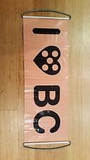 """Black Caviar racehorse """"I heart BC"""" plastic pull out banner/sign NEW"""