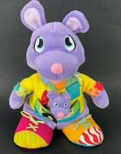 Learning Toy Plush Toy Mommy & Me Kangaroo Hand Finger Skill Zip Tie Open Pocket