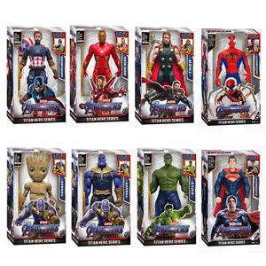 Marvel Action Figures Toys Superhero Hulk Spider-man Superman Talking Lights