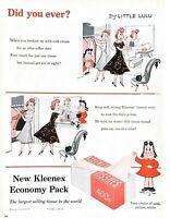 1955 Kleenex Tissues Vintage Print Ad Little Lulu Comic Did You Ever