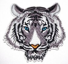 White Tiger Big Cat Embroidered Iron Sew On Patch Applique Badge Lion Panther