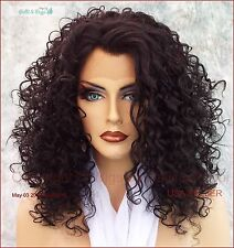 LACE FRONT JERRY CURLS WIG COLOR 1B SASSY SEXY HOT STYLE USA SELLER 488